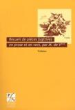 Voltaire - Recueil de pièces fugitives en prose et en vers, par M. de V***.