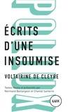 Voltairine de Cleyre et Normand Baillargeon - Ecrits d'une insoumise.