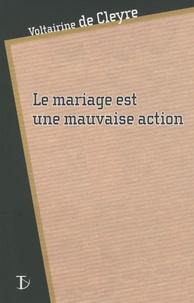 Voltairine de Cleyre - Le mariage est une mauvaise action.