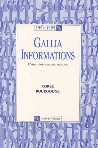 CNRS - Gallia Informations 1994-1995 : Corse-Bourgogne.