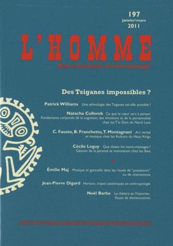 Patrick Williams - L'Homme N° 197, Janvier-mars : Des Tsiganes impossibles ?.