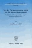 Von der Parlamentssouveränität zur Verfassungssouveränität - Der britische Verfassungswandel am Beispiel des Human Rights Act 1998.