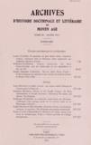 Irène Caiazzo - Archives d'histoire doctrinale et littéraire du Moyen Age N° 80 : .
