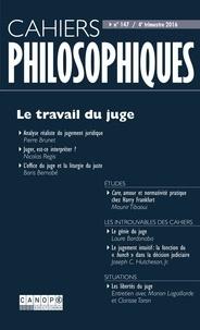 CNDP - Cahiers philosophiques N° 147 : Le travail du juge.