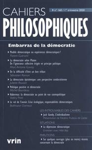 Nathalie Chouchan - Cahiers philosophiques N° 160 / 1er trimest : Embarras de la démocratie.