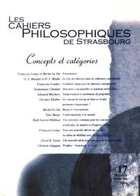 Françoise Longy et Michel Le Du - Les Cahiers Philosophiques de Strasbourg N° 17, premier semes : Concepts et catégories.