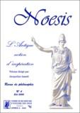 Jacqueline Assaël - Noesis N° 4, Eté 2000 : L'antique notion d'inspiration.