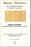 Barbara Obrist et  Collectif - Oriens - Occidens N° 6, 2004 : Abbon de Fleury - Philosophie, science et comput autour de l'an mil.