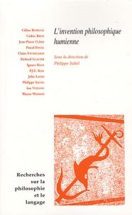 Philippe Saltel - Recherches sur la philosophie et le langage N° 26 : L'invention philosophique humienne.