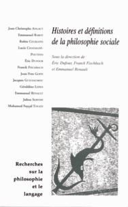 Eric Dufour et Franck Fischbach - Recherches sur la philosophie et le langage N° 28 : Histoires et définitions de la philosophie sociale.