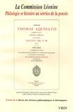 Ruedi Imbach - Revue des sciences philosophiques et théologiques N° 89 : La Commission Léonine.