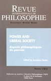 Jonathan Hearn - Revue internationale de philosophie N° 275/2016 : Power and liberal society - Aspects philosophiques du pouvoir.