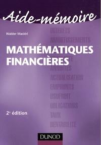 Walder Masiéri - Mathématiques financières.