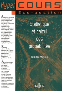 Walder Masiéri - Statistique et calcul des probabilités.
