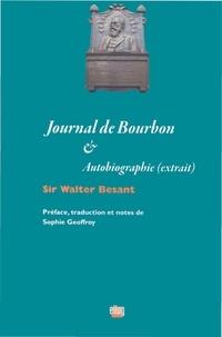 Walter Besant - Journal de Bourbon - Autobiographie (extrait).