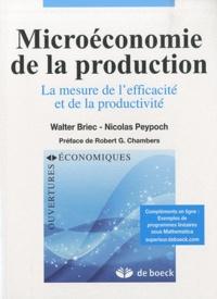 Walter Briec et Nicolas Peypoch - Microéconomie de la production - La mesure de l'efficacité et de la productivité.