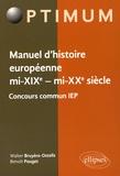 Walter Bruyère-Ostells et Benoît Pouget - Manuel d'histoire européenne mi-XIXe - mi-XXe siècle - Concours commun IEP.