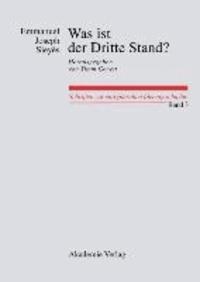 Was ist der Dritte Stand? Ausgewählte Schriften - Ausgewählte Schriften.