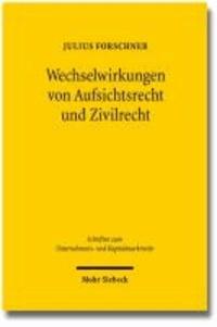 Wechselwirkungen von Aufsichtsrecht und Zivilrecht - Eine Untersuchung zum Verhältnis der  31ff. WpHG und zivilrechtlichem Beratungsvertrag.