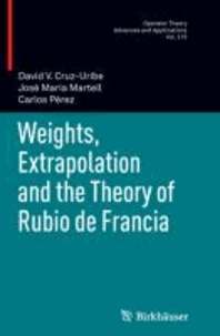 Weights, Extrapolation and the Theory of Rubio de Francia.