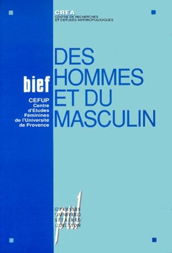 BIEF : DES HOMMES ET DU MASCULIN