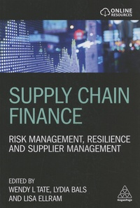 Wendy Tate et Lydia Bals - Supply Chain Finance - Risk Management, Resilience and Supplier Management.