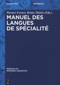 Werner Forner et Britta Thörle - Manuel des langues de spécialité.