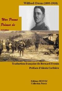 Wilfred Owen - Poèmes de guerre.