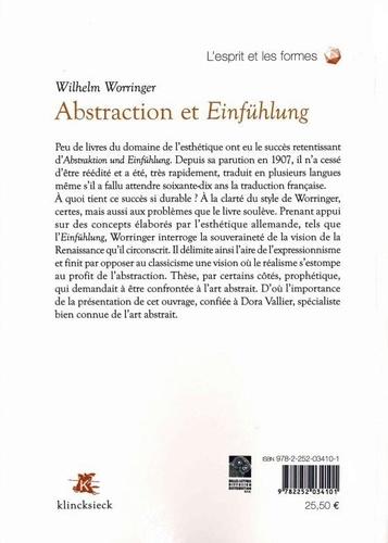 Abstraction et Einfühlung. Contribution à la psychologie du style