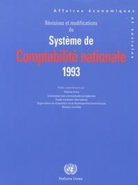 Willem De Vries et Michel Vanden Abeele - Révisions et modifications du système de comptabilité nationale - 1993.