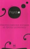 Willem Doise - Discriminations sociales et droits universels - Itinéraires en psychologie sociale.