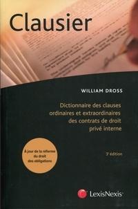 Clausier - Dictionnaire des clauses ordinaires et extraordinaires des contrats de droit privé interne.pdf