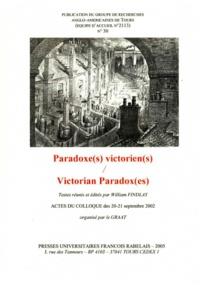 William Findlay - GRAAT N° 30, Juin 2005 : Paradoxe(s) victorien(s).