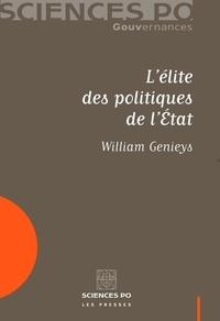 William Genieys - L'élite des politiques de l'Etat.