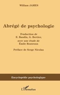 William James - Abrégé de psychologie.