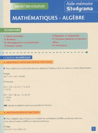 William Seck - Mathématiques - Algèbre.