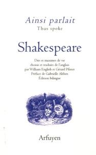 William Shakespeare - Ainsi parlait Shakespeare.