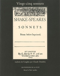 William Shakespeare - Vingt-cinq sonnets de William Shakespeare.