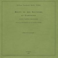 William Theobald Wolfe Tone - Récits de mes souvenirs et campagnes dans l'armée française.
