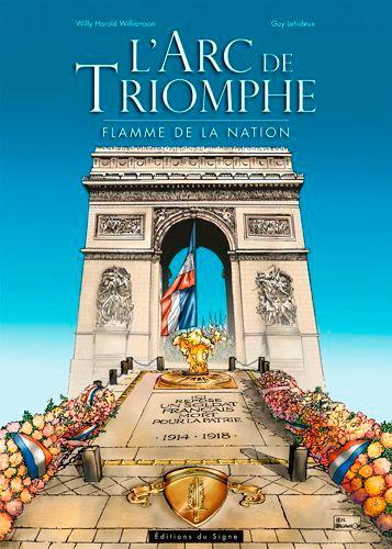 Willy Harold Williamson et Guy Lehideux - L'Arc de triomphe - Flamme de la nation.