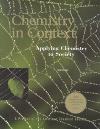 CHEMISTRY IN CONTEXT. Applying Chemistry to Society, Third Edition - Wilmer-J Stratton |