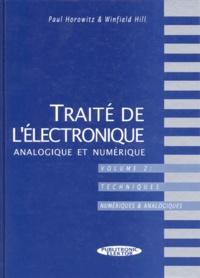 Histoiresdenlire.be TRAITE DE L'ELECTRONIQUE ANALOGIQUE ET NUMERIQUE. Volume 2, Techniques numériques et analogiques Image