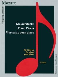 Wolfgang Amadeus Mozart - Mozart - Morceaux pour piano - Partition.
