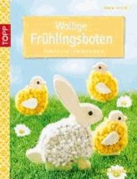 Wollige Frühlingsboten - Motive aus Holz und Wollschnur.