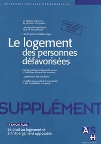 Pascal Derrez - Actualités Sociales Hebdomadaires Octobre 2007 : Le logement des personnes défavorisées.