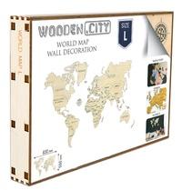 Wooden City - Carte du monde en bois - Taille L. Puzzle 3D.