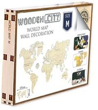 Birrascarampola.it La carte du monde en bois - Taille M. Puzzle en 3D Image