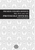 Workshop19 - Premier congrès sioniste (Bâle, 29-31 août 1897) - Protocole officiel.