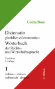Wörterbuch der Rechts- und Wirtschaftssprache 1. Italienisch - Deutsch.