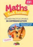 Xavier Amouyal et Jacques Brun - Maths tout terrain CE1 - Fichier photocopiable de différenciation.